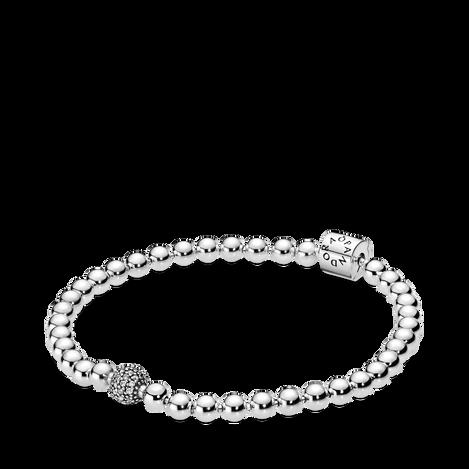 Bracelet avec perles et pavé