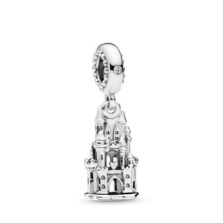 Charm pendentif Château royal, cz incolore