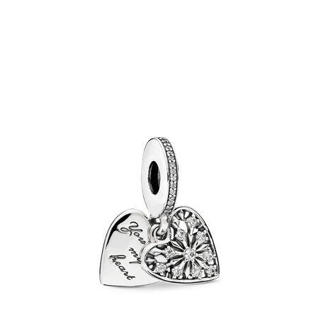 Charm pendentif Au cœur de l'hiver, cz incolore, Argent sterling, Aucun autre matériel, Aucune couleur, Zircon cubique - PANDORA - #796372CZ