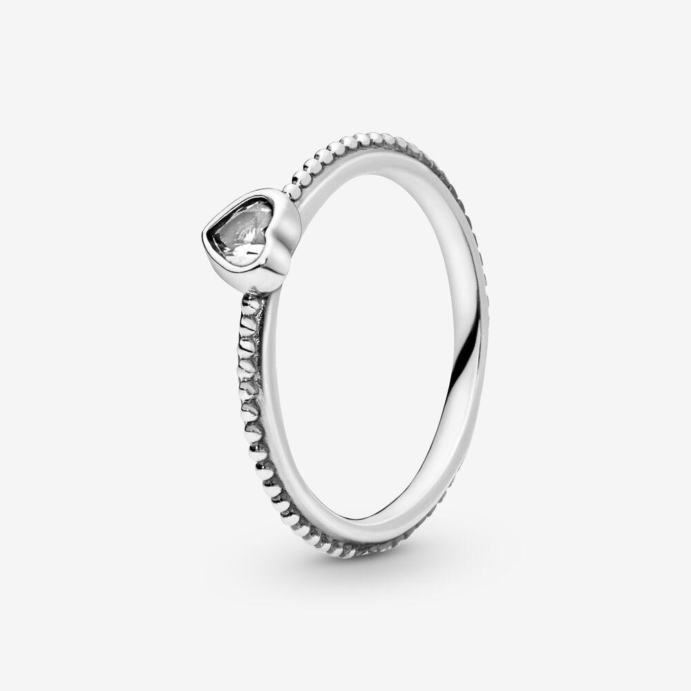 l'atteggiamento migliore bfab9 8fcb5 Clear Heart Beaded Ring