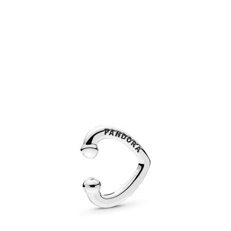 Open Heart Ear Cuff, Sterling silver - PANDORA - #297214