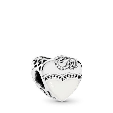 Our Special Day, Black & White Enamel, Sterling silver, Enamel - PANDORA - #791840ENMX