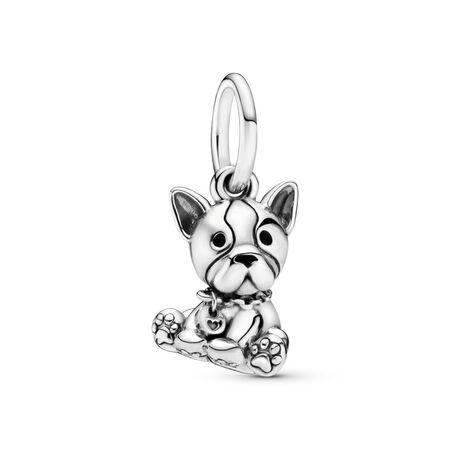 Bulldog Puppy Dangle Charm