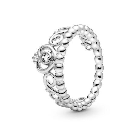 Princess Tiara Crown Ring, Sterling silver, Cubic Zirconia - PANDORA - #190880CZ
