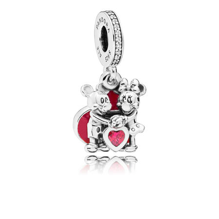 Disney, Minnie & Mickey With Love Dangle Charm