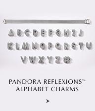Pandora Reflexions Alphabet Charms