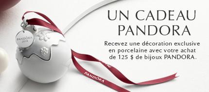 Un Cadeau de Pandora: Recevez une decoration exclusive en porcelaine avec votre achat de 125 $ de bijoux PANDORA.
