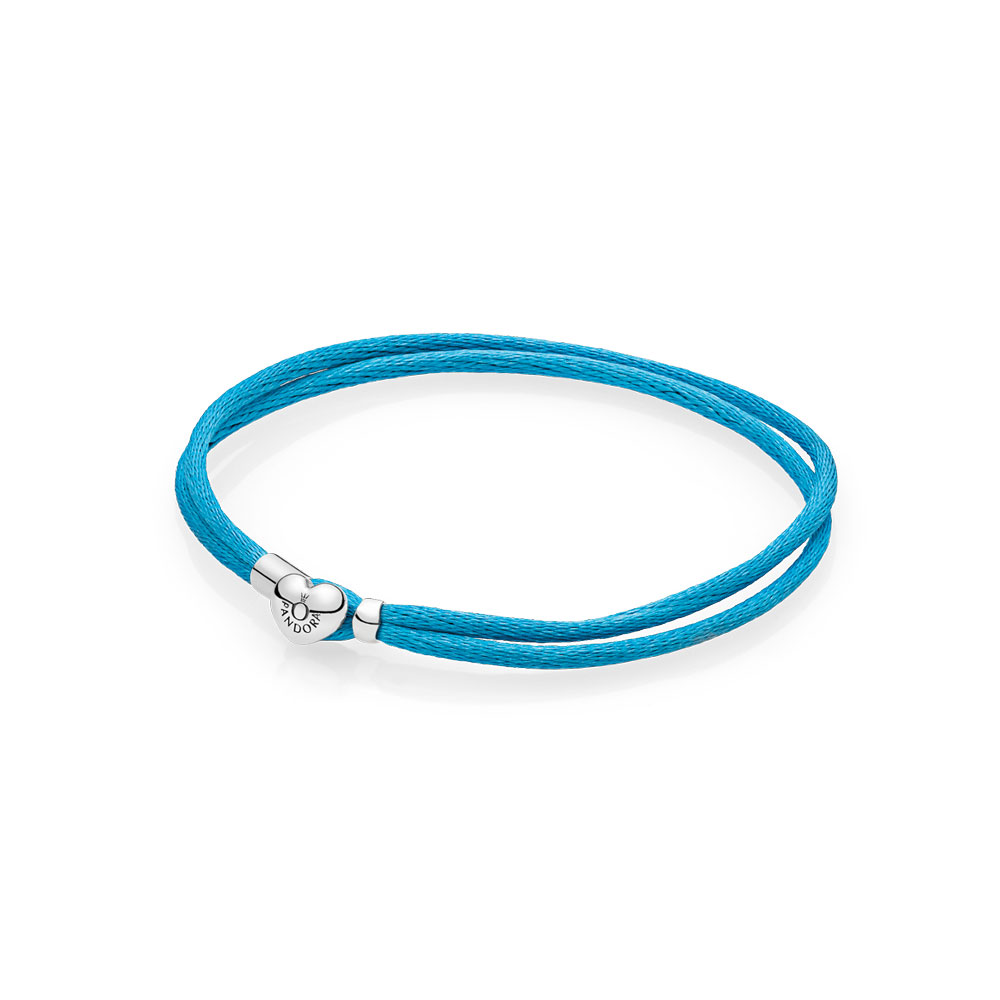 Bracelet-cordonnet en tissu, turquoise