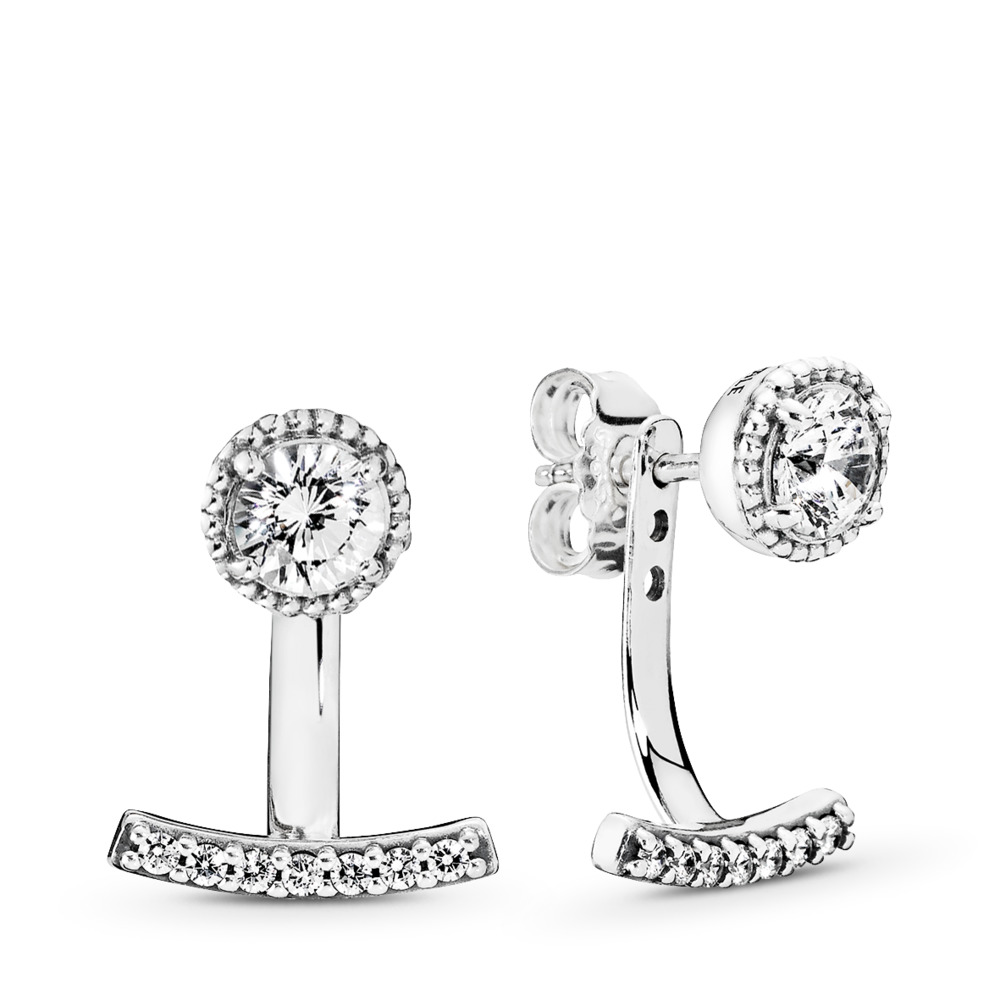 Abstract Elegance, Clear CZ, Sterling silver, Cubic Zirconia - PANDORA - #290743CZ