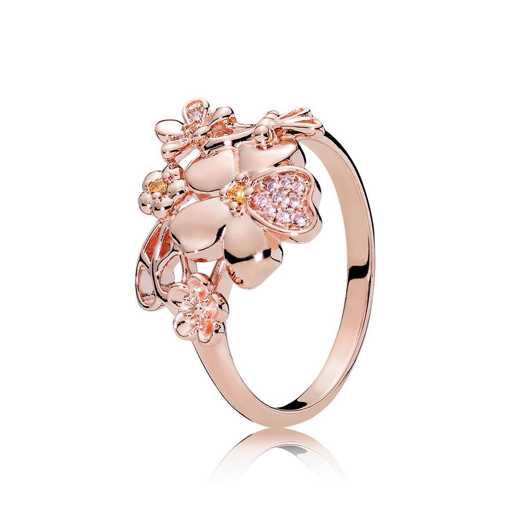 Wildflower Meadow Ring, PANDORA Rose™ & Blush Pink Crystal