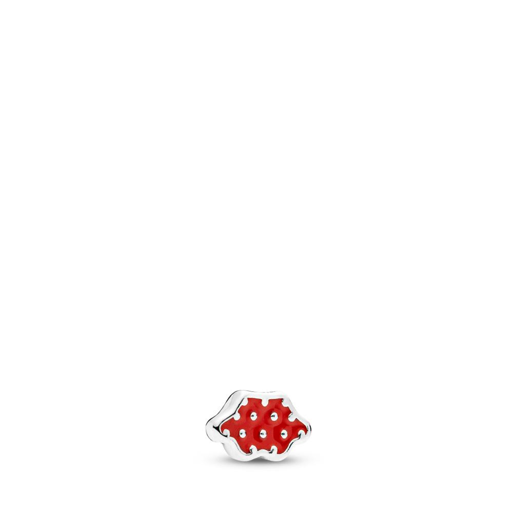 Disney, Minnie Skirt Petite Charm, Red Enamel, Sterling silver, Enamel, Red - PANDORA - #796519EN09