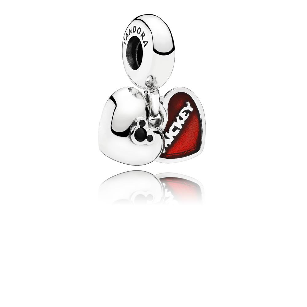 Disney, Mickey & Minnie, Sterling silver, Enamel, Black, Crystal - PANDORA - #791441NCK