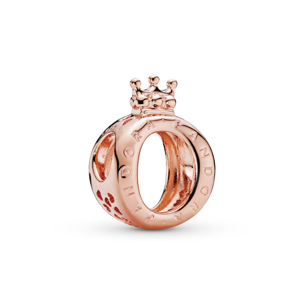 Charm en forme de «O» couronné PANDORA, PANDORA Rose, PANDORA ROSE, Aucun autre matériel, Aucune couleur, Aucune pierre - PANDORA - #787401