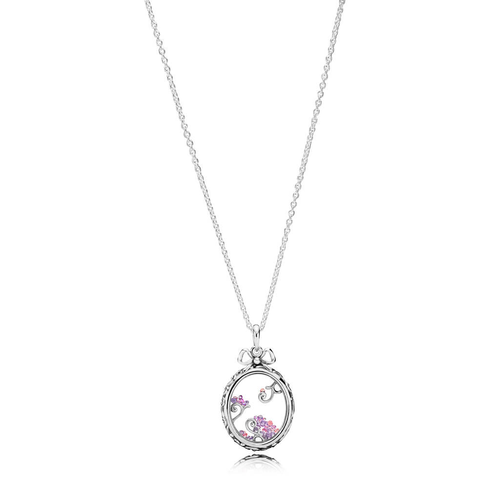 Locket of Dazzle Necklace Pendant, Multi-coloured CZ