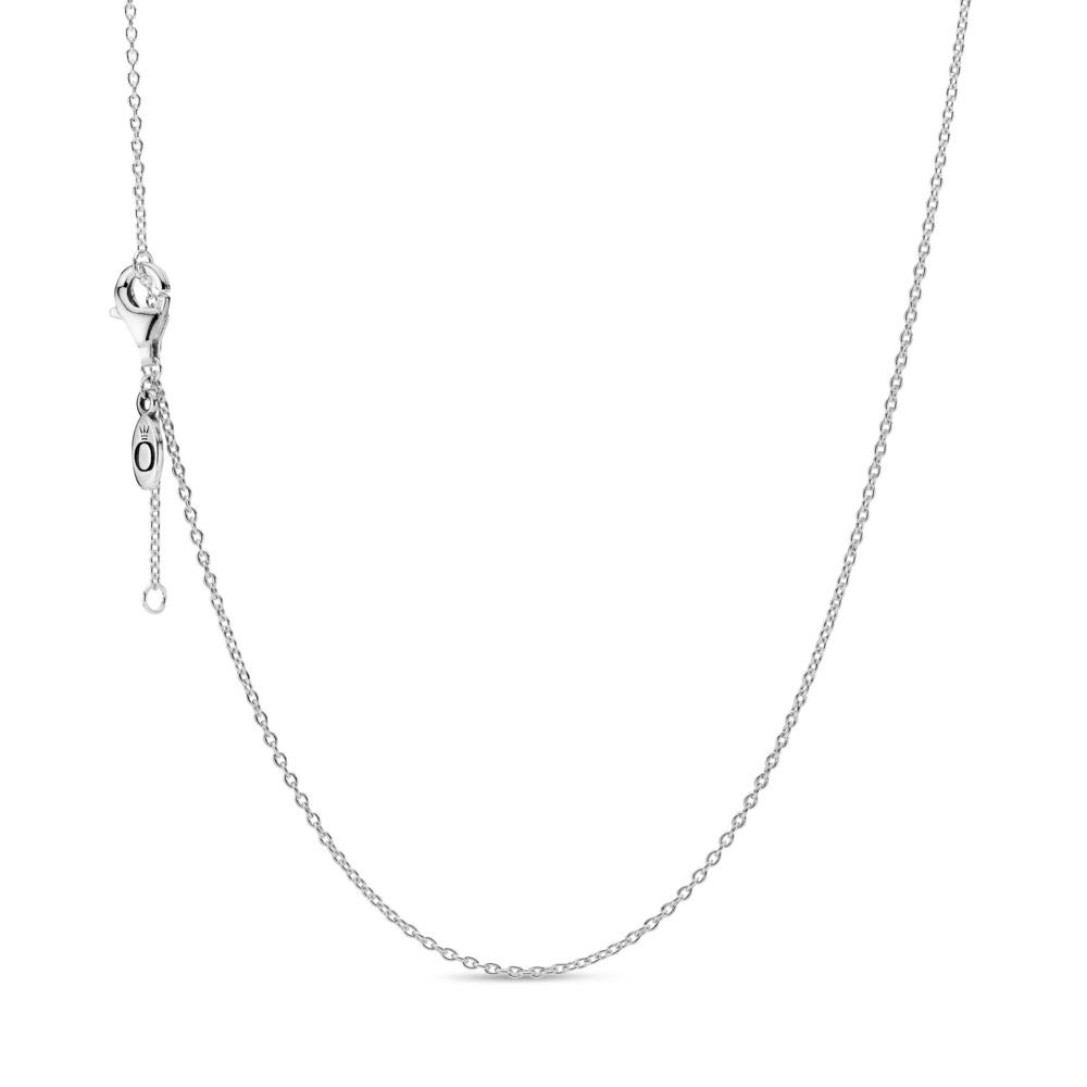Collier chaîne forçat classique, Argent sterling, Aucun autre matériel, Aucune couleur, Aucune pierre - PANDORA - #590515