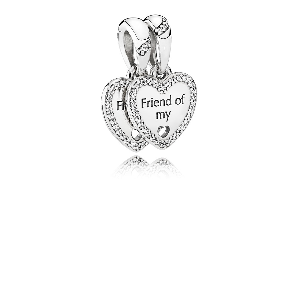 Hearts of Friendship, Clear CZ