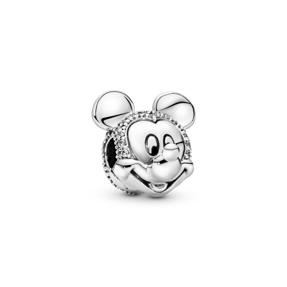 Disney, Shimmering Mickey Portrait Clip, Sterling silver, Cubic Zirconia - PANDORA - #797495CZ