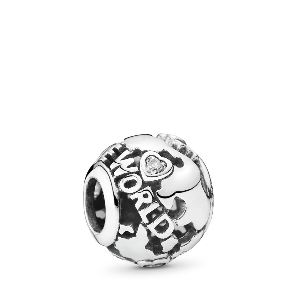 Around The World, Clear CZ, Sterling silver, Cubic Zirconia - PANDORA - #791718CZ