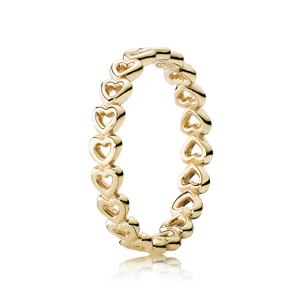 Linked Love Stackable Ring, 14K Yellow Gold