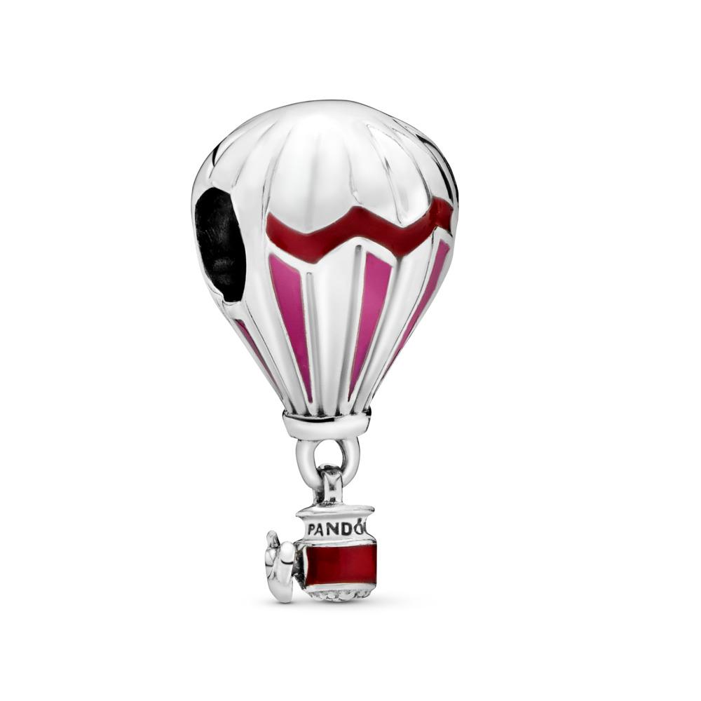 Montgolfière rouge, Argent sterling, émail, Rose, Aucune pierre - PANDORA - #798055ENMX