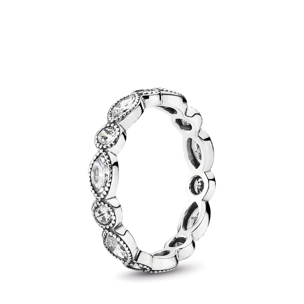 4341236c3 Alluring Brilliant Marquise Stackable Ring, CZ, Sterling silver, Cubic  Zirconia - PANDORA -