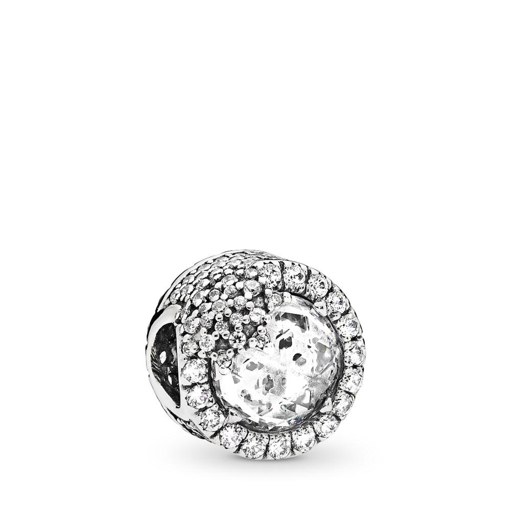 Dazzling Snowflake Charm, Clear CZ, Sterling silver, Cubic Zirconia - PANDORA - #796358CZ