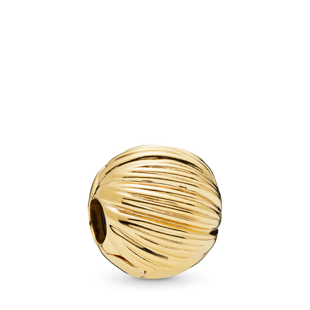 Seeds of Elegance Clip, PANDORA Shine™, 18ct gold-plated sterling silver, Silicone - PANDORA - #767578