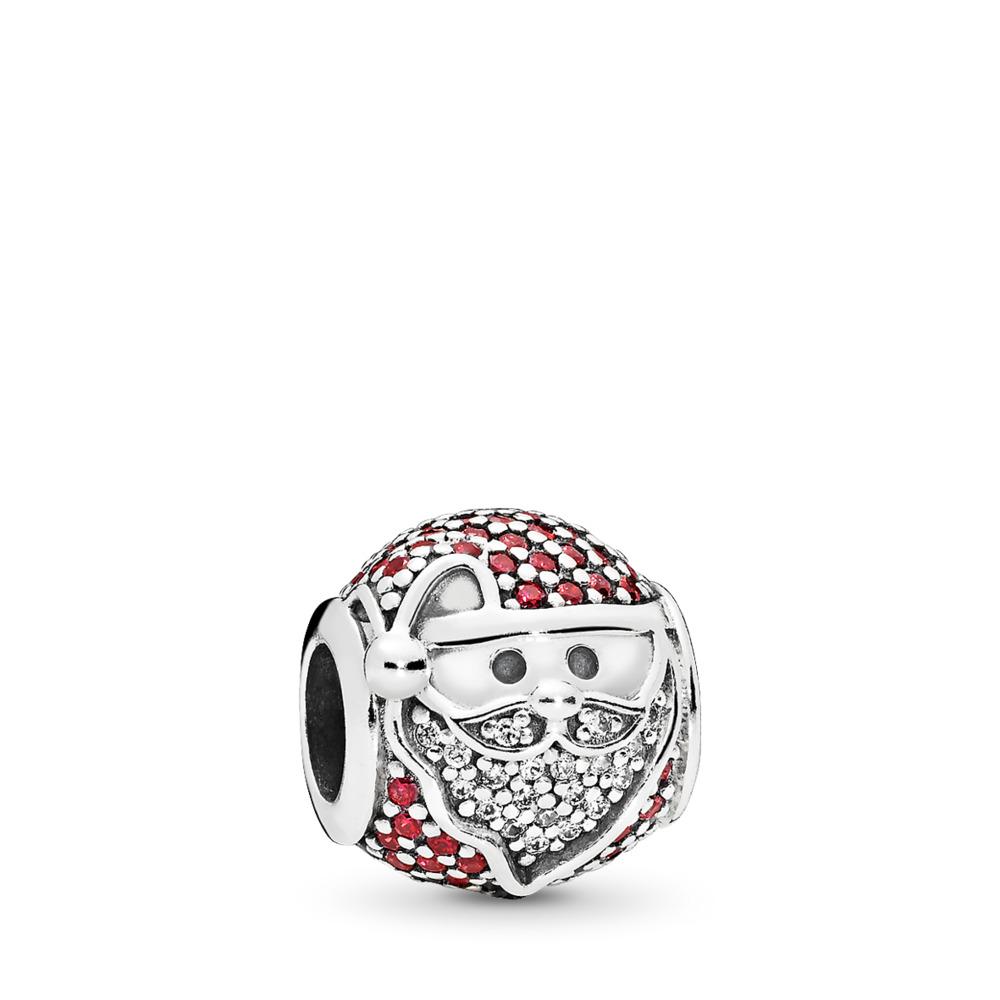 Charm Joie de Noël, cz rouge et incolore, Argent sterling, Aucun autre matériel, Rouge, Zircon cubique - PANDORA - #796385CZR