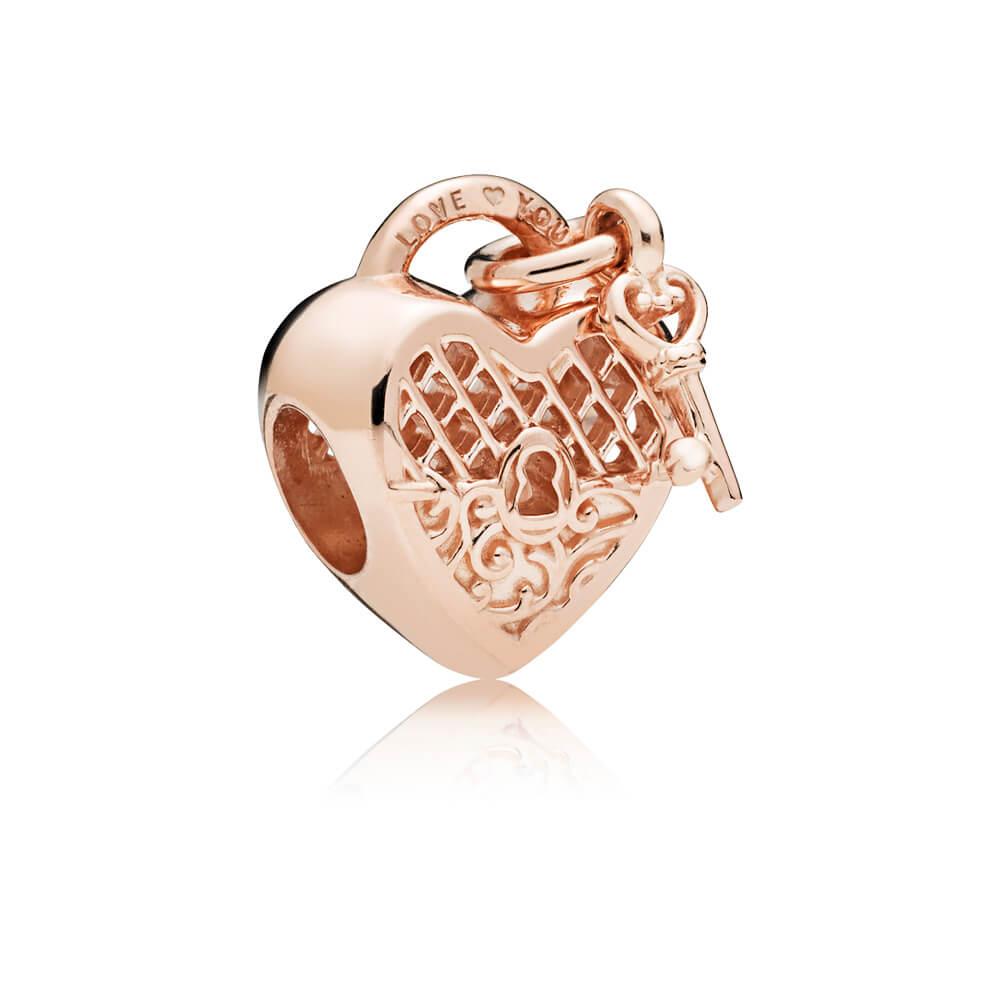 Love You Lock Charm, PANDORA Rose™