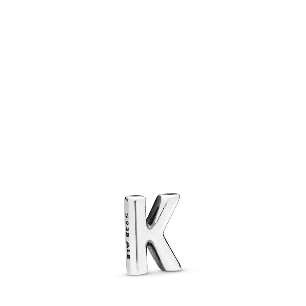 Letter K Petite Charm, Sterling silver - PANDORA - #797329
