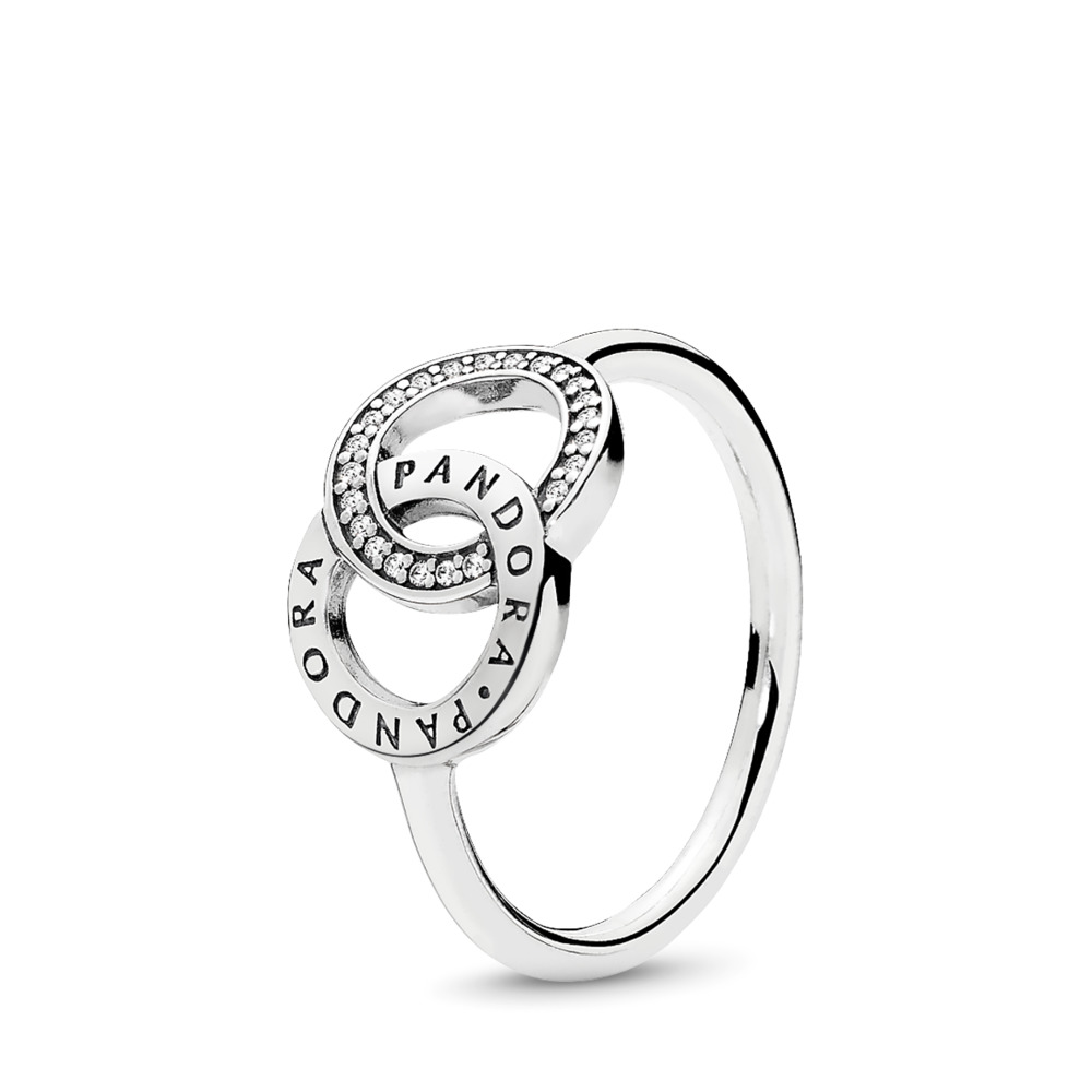 PANDORA Circles, Clear CZ, Sterling silver, Cubic Zirconia - PANDORA - #196326CZ