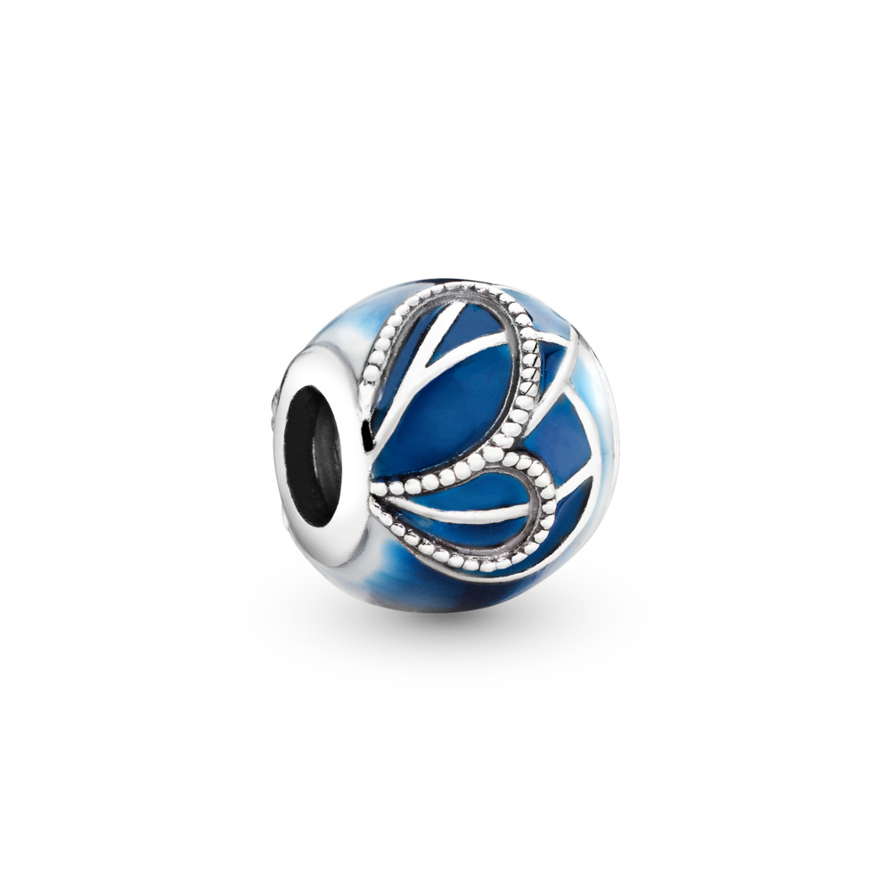 Blue Butterfly Wing Charm, Sterling silver, Enamel, Blue - PANDORA - #797886ENMX