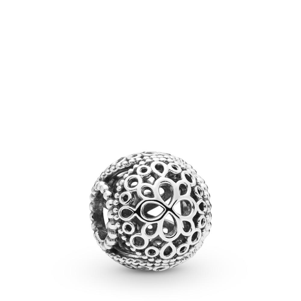 Charm Fleur ajourée, Argent sterling, Aucun autre matériel, Aucune couleur, Aucune pierre - PANDORA - #797853