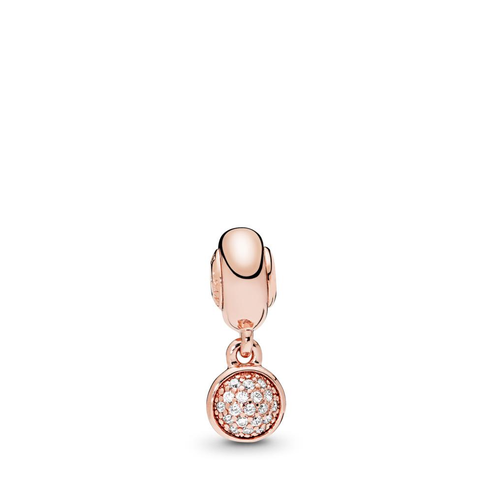 Charm pendentif ESSENCE ESPOIR, PANDORA Rose, cz incolore, PANDORA ROSE, Silicone, Aucune couleur, Zircon cubique - PANDORA - #786090CZ