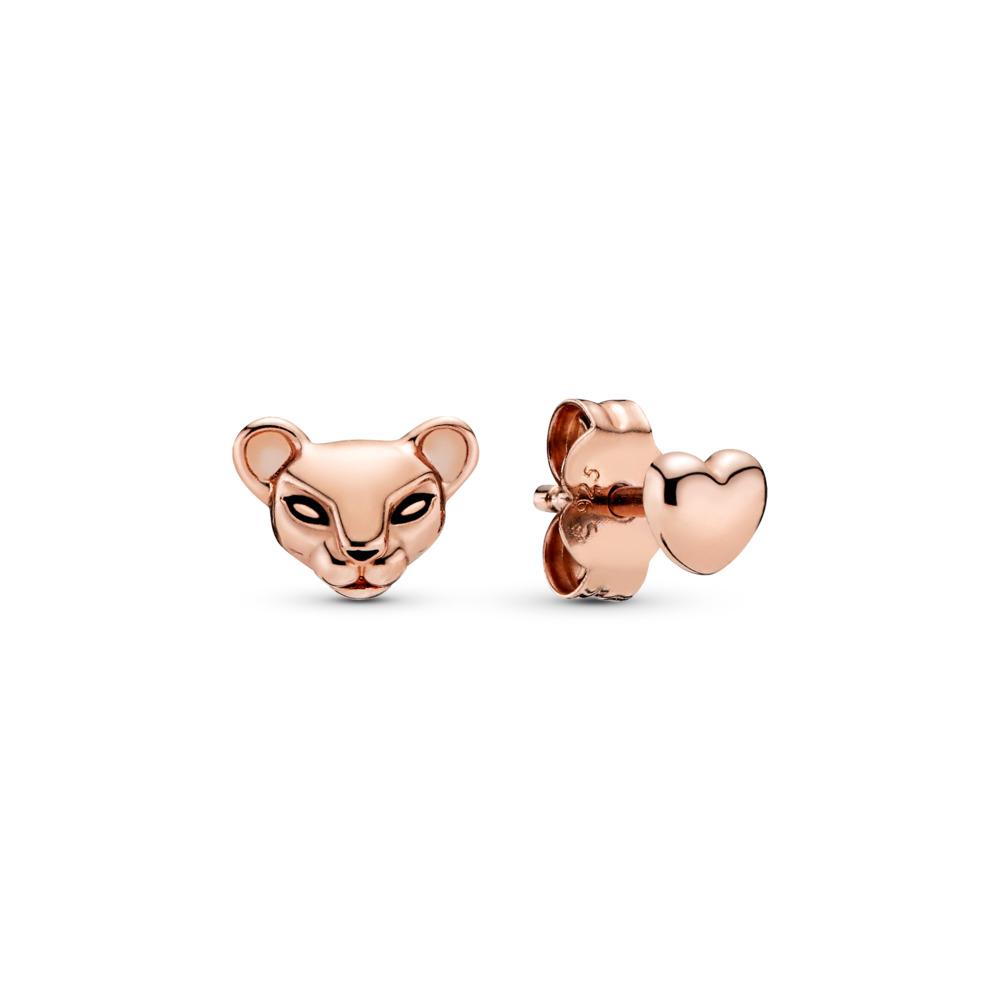 Clous d'oreilles dépareillés Princesse lionne et cœur, PANDORA ROSE, émail, Aucune pierre - PANDORA - #288022EN16