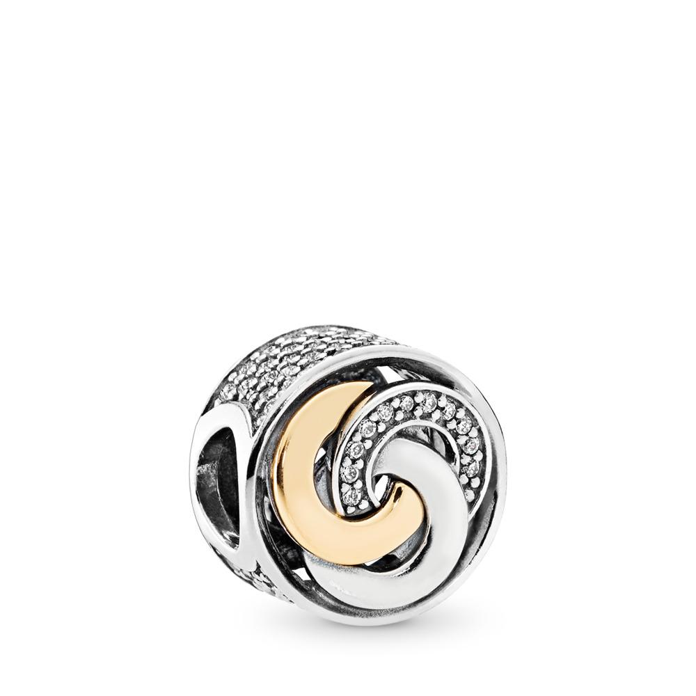 Interlinked Circles, Clear CZ, Two Tone, Cubic Zirconia - PANDORA - #792090CZ
