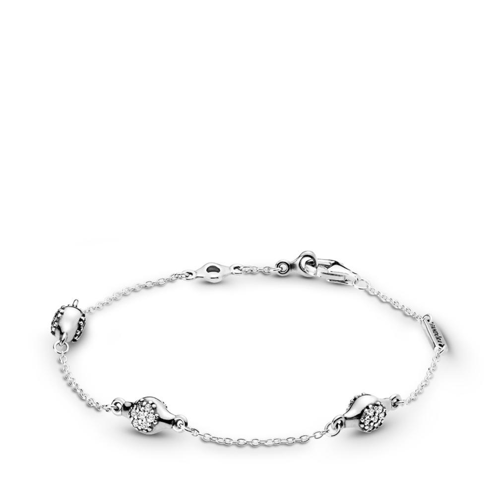 Modern LovePods™ Sterling Silver Bracelet, Clear CZ, Sterling silver, Cubic Zirconia - PANDORA - #597354CZ