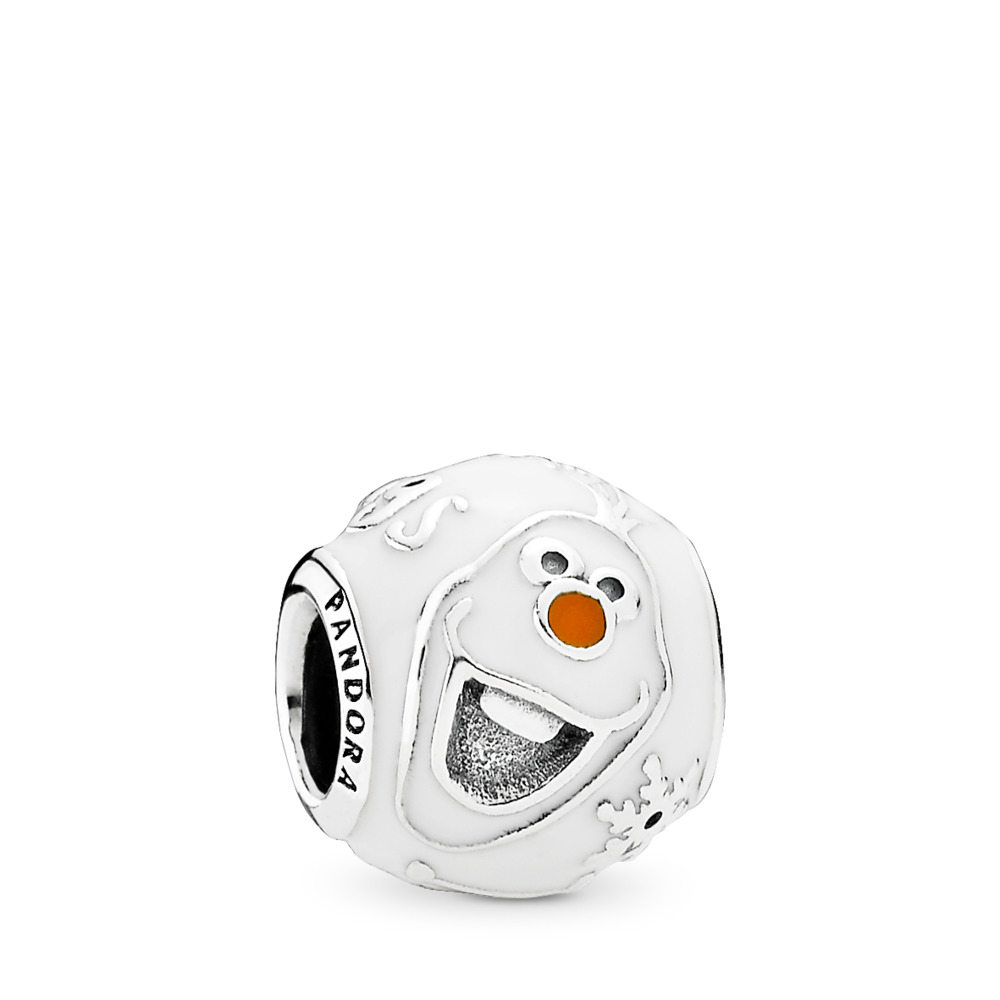 Disney, Olaf, Sterling silver, Enamel, Orange - PANDORA - #791794ENMX