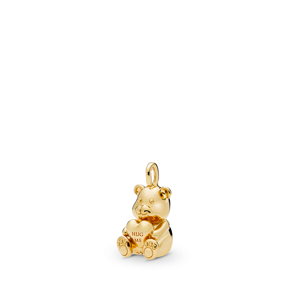 Theodore Bear Pendant, PANDORA Shine™, 18ct gold-plated sterling silver - PANDORA - #367237