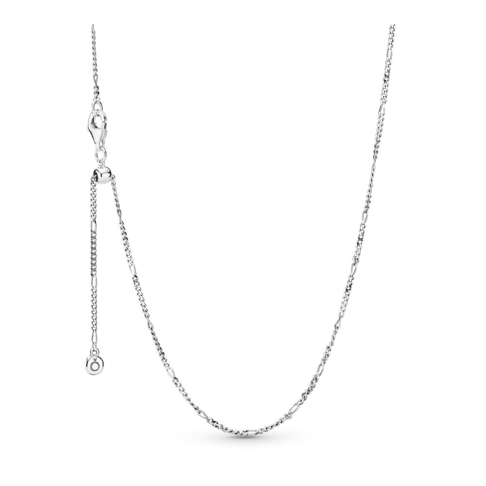 Collier ajustable en argent sterling, Argent sterling, Silicone, Aucune couleur, Aucune pierre - PANDORA - #397723