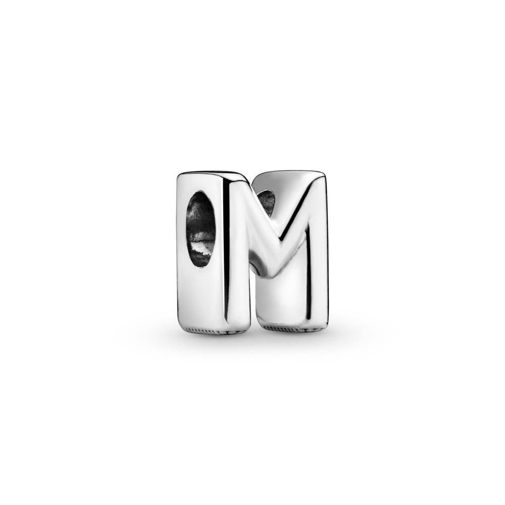 Letter M Charm, Sterling silver - PANDORA - #797467