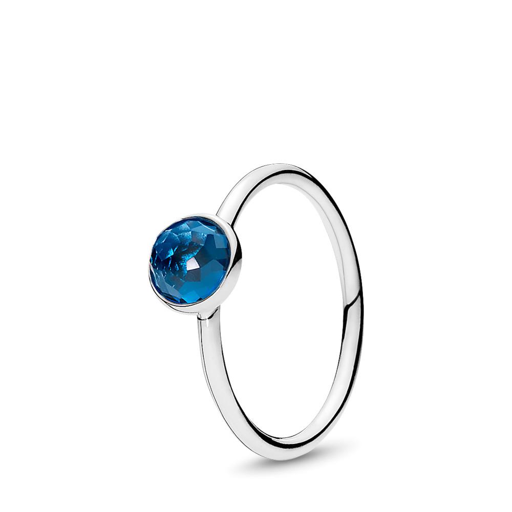 December Droplet, London Blue Crystal, Sterling silver, Blue, Crystal - PANDORA - #191012NLB