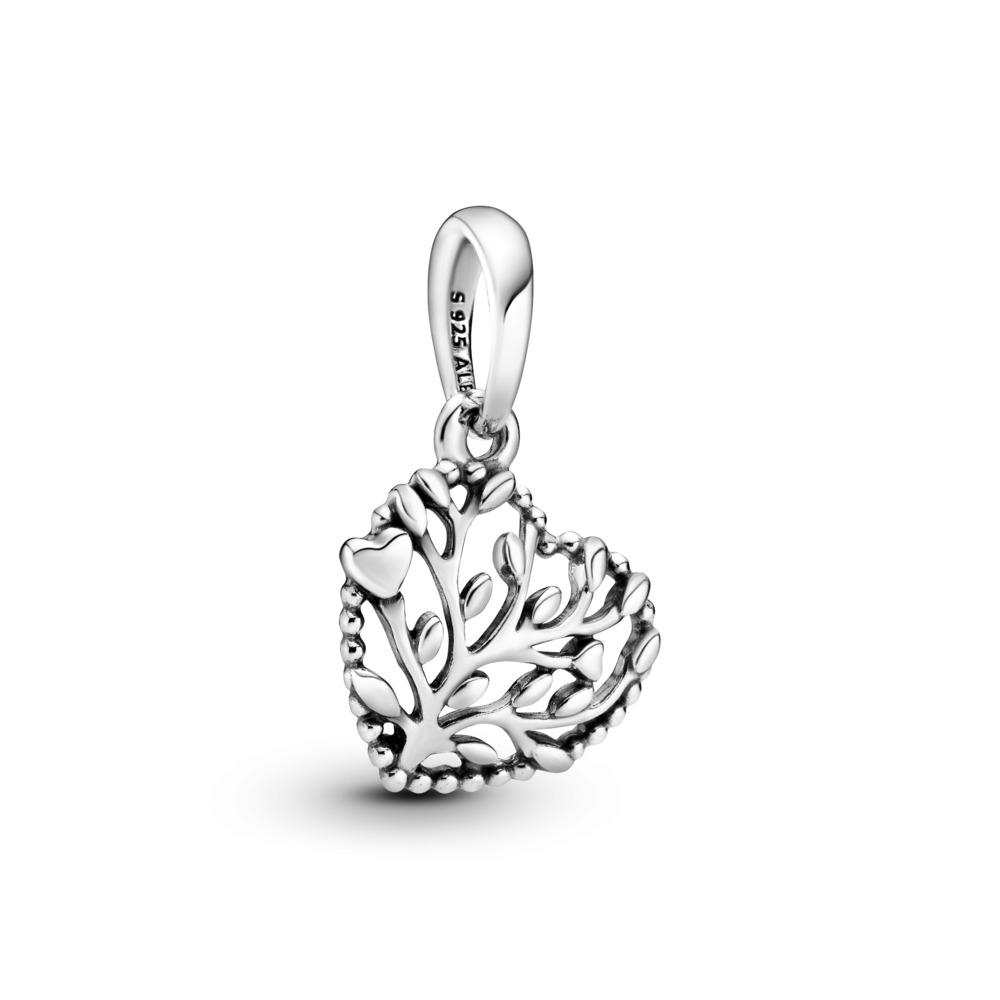 Charm pendentif Cœurs florissants, Argent sterling, Aucun autre matériel, Aucune couleur, Aucune pierre - PANDORA - #797140