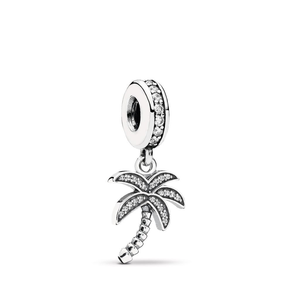 Palmier tropical, cz incolore, Argent sterling, Aucun autre matériel, Aucune couleur, Zircon cubique - PANDORA - #791540CZ