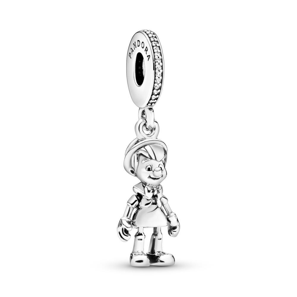 Charm pendentif Disney, Pinocchio, cz incolore, Argent sterling, Aucun autre matériel, Aucune couleur, Zircon cubique - PANDORA - #797489CZ