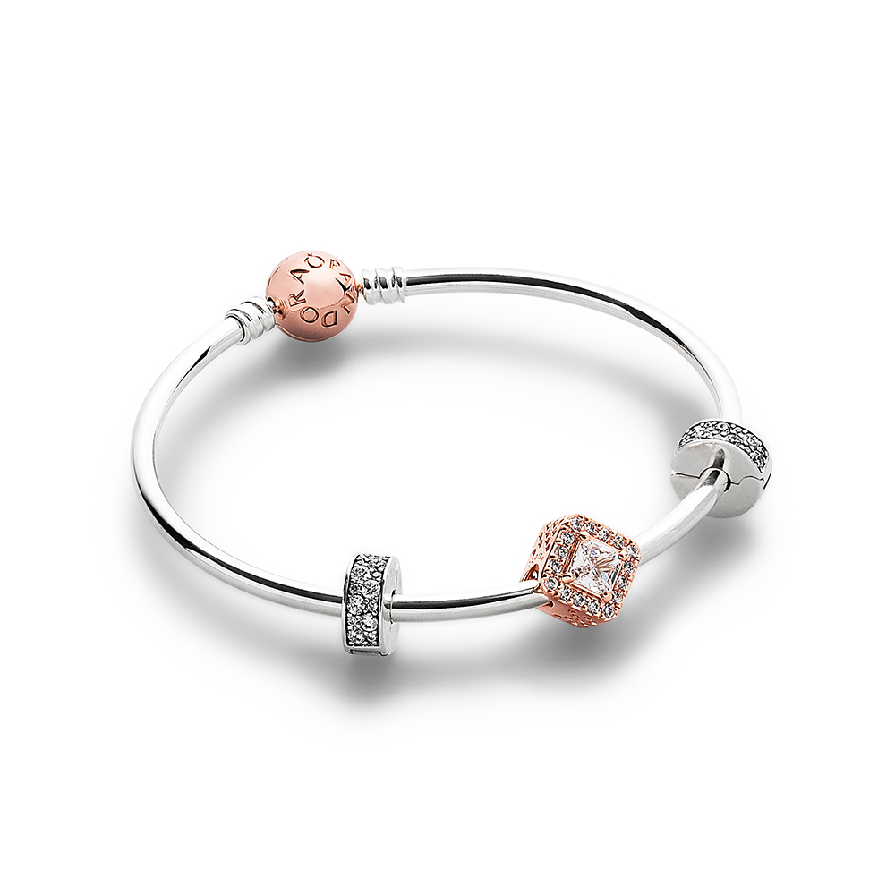 Pandora Rose™ Geometric Radiance Bracelet Set, PANDORA Rose™ - PANDORA - #CS1709