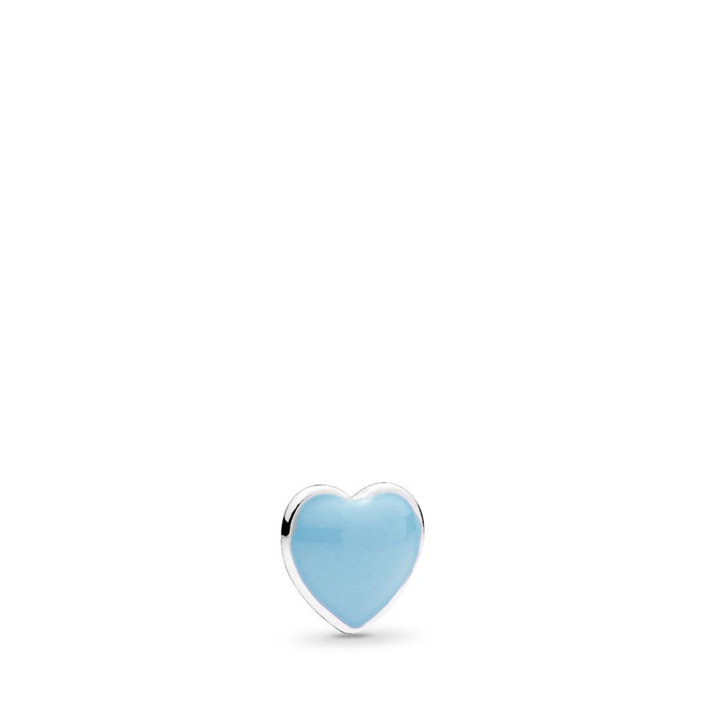 Mini cœur bleu, émail bleu tendre, Argent sterling, émail, Bleu, Aucune pierre - PANDORA - #792169EN41