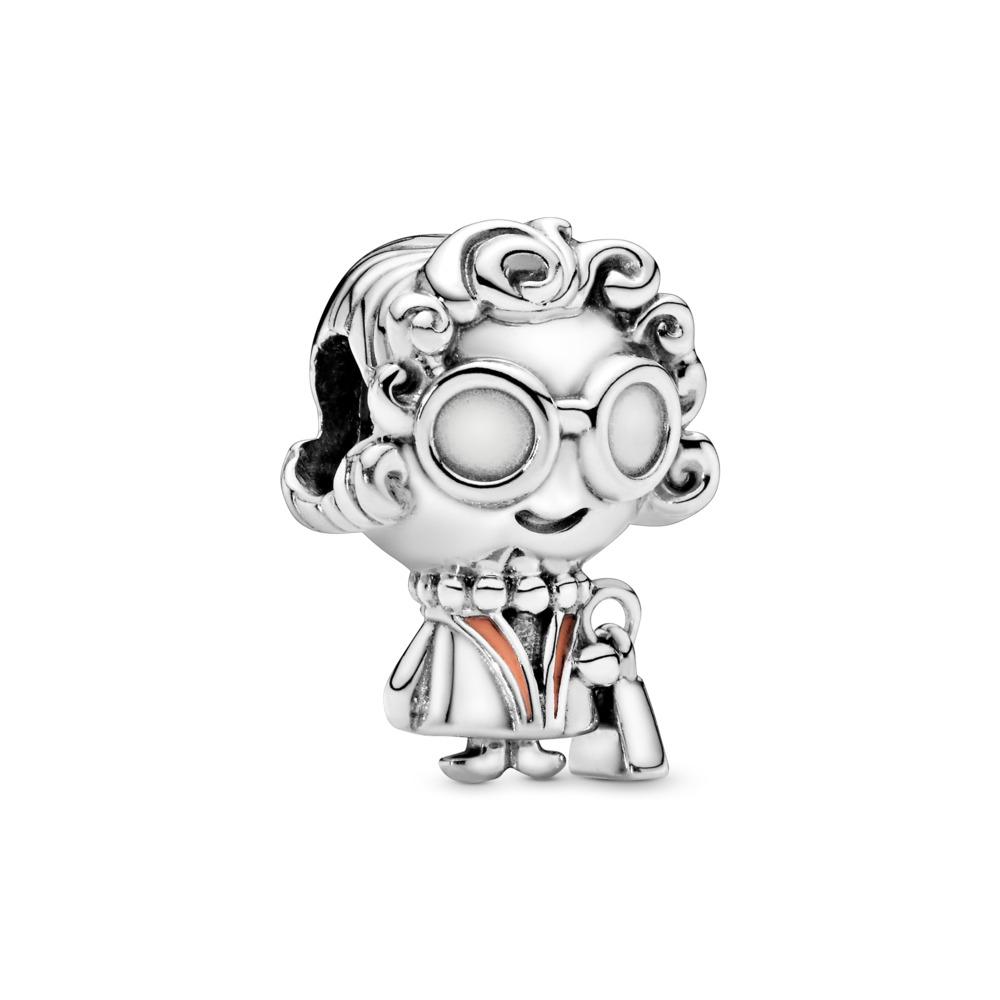 Grandma Character Charm, Sterling silver, Enamel, Pink - PANDORA - #798014EN190