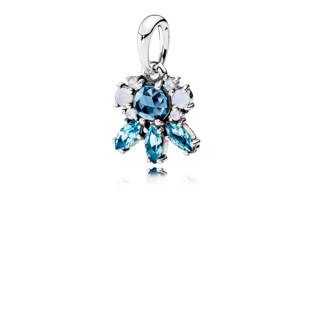 Traces de givre, cristaux multicolores, Argent sterling, Aucun autre matériel, Bleu, Cristal - PANDORA - #390391NMBMX