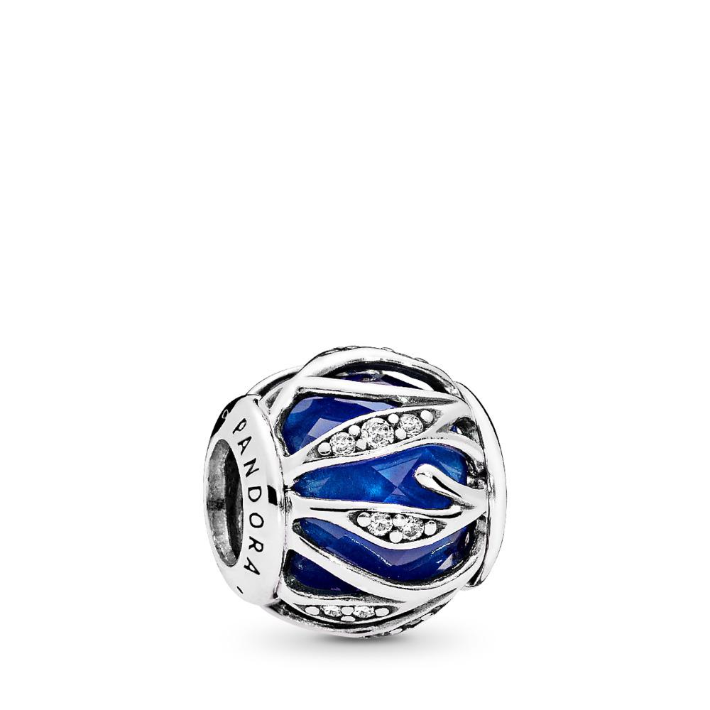 Charm Nature radieuse, cristal bleu royal et cz incolore, Argent sterling, Aucun autre matériel, Bleu, Pierres mélangées - PANDORA - #791969NCB